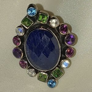 Nicky Butler 925 SS multi gemstone ring